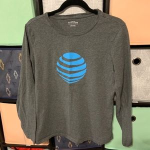 Womens Lands' End AT&T Crewneck Graphic Tee